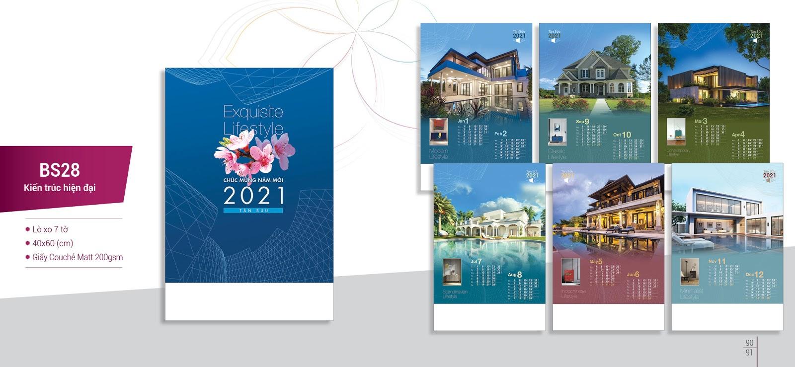 Dịch vụ in lịch treo tường giá rẻ uy tín - Chất lượng tại Hà Nội
