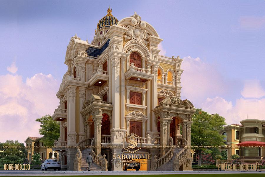 thiết kế biệt thự lâu đài bt 2099
