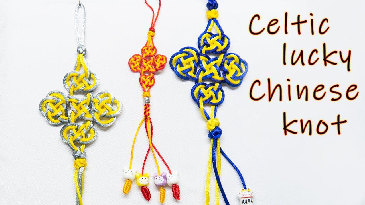 Macrame keychain tutorial: The Chinese lucky knot in celtic style - Hướng  dẫn thắt nút đồng tâm - YouTube