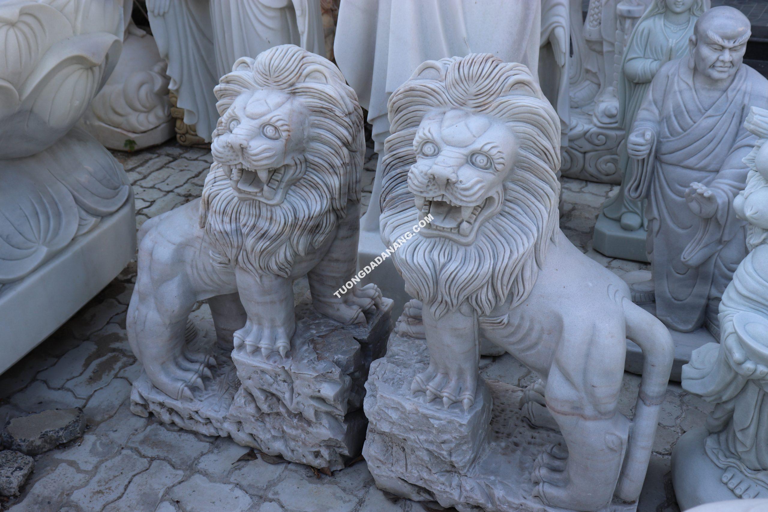 Tượng Sư Tử đá - Điêu khắc tượng đá mỹ nghệ non nước Đà Nẵng