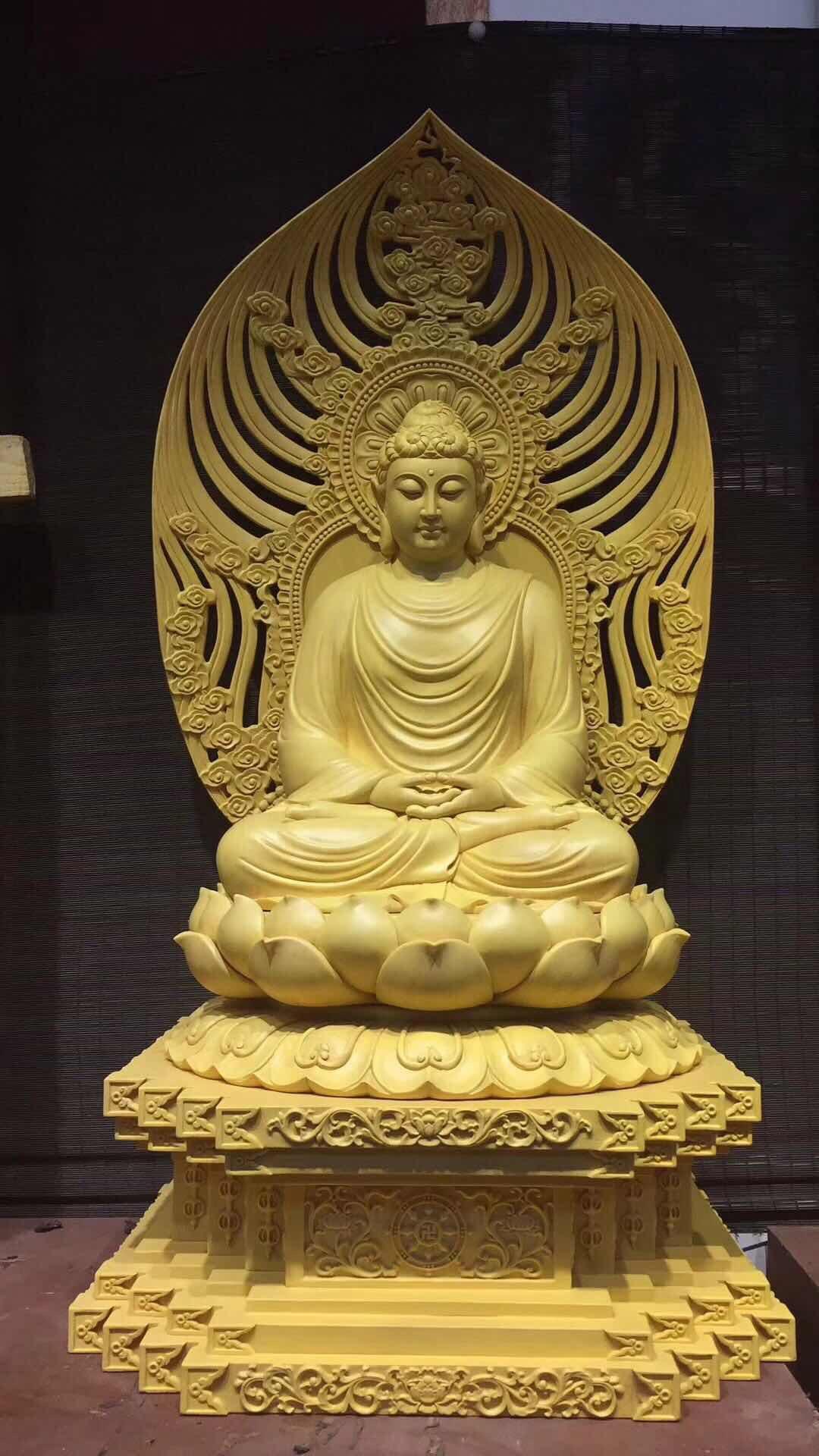 Cơ Sở sản xuất Tôn Tạo Tượng Phật Bổn sư thích ca hảo tướng , trang nghiêm  - Chất liệu : composite , đồng , gỗ , xi măng