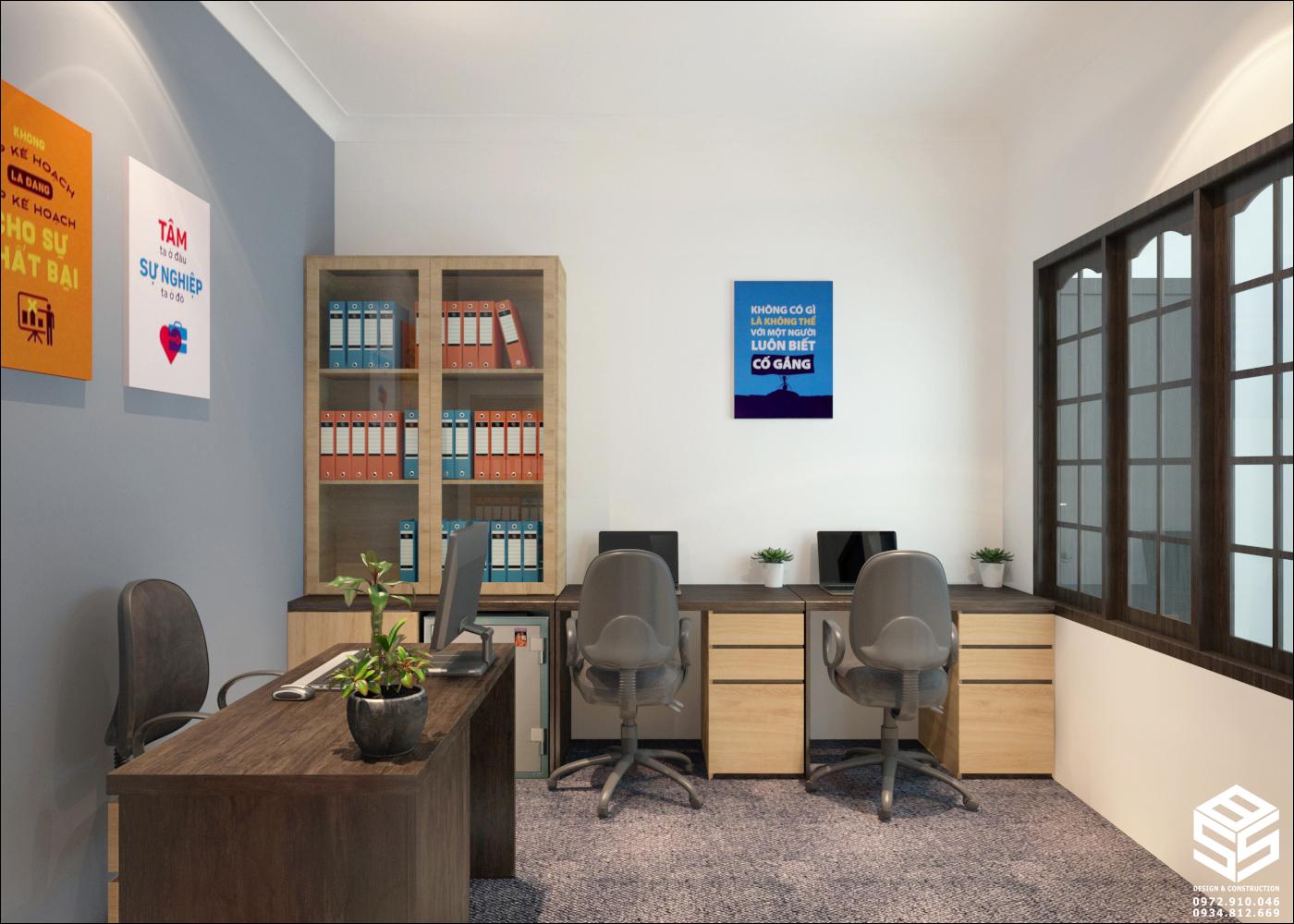 Thiết kế nội thất văn phòng làm việc vừa và nhỏ - SBS House
