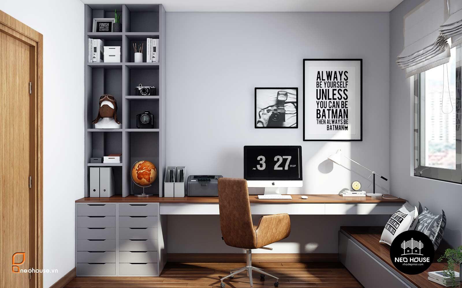 10 Mẫu Thiết Kế Nội Thất Phòng Làm Việc Kết Hợp Phòng Ngủ 2021