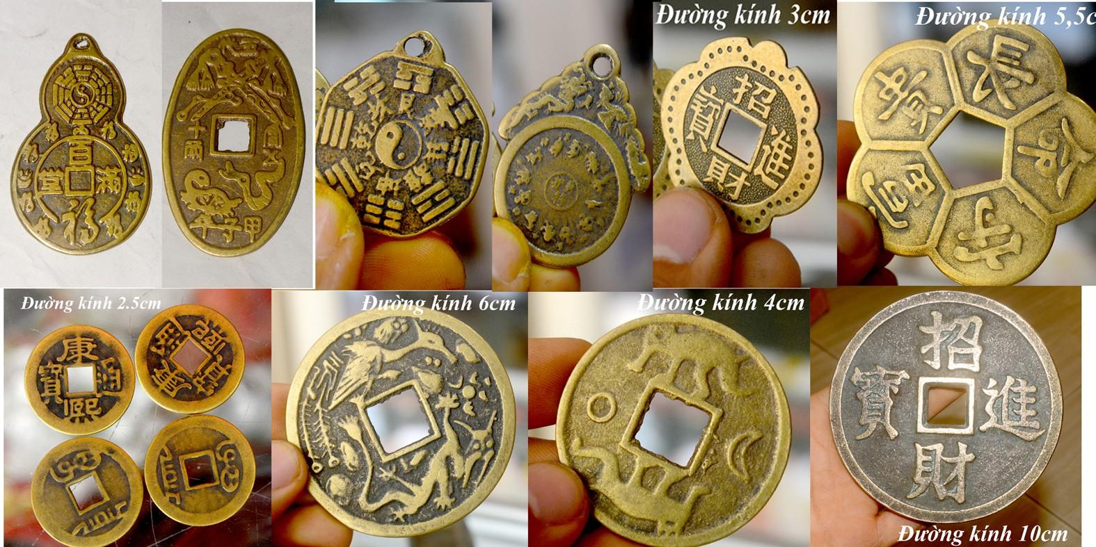 Đồng tiền xu cổ phong thủy bằng đồng cỡ lớn-Chiêu tài lộc may mắn, giá tốt  nhất 220,000đ! Mua nhanh tay!   Bigomart.Info